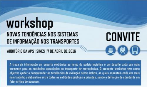 """Assista ao Workshop """"Novas Tendências nos Sistemas de Informação nos Transportes"""""""