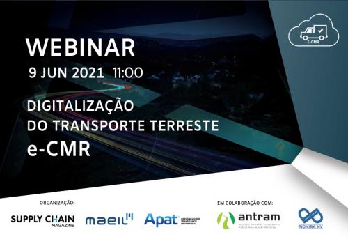 Agradecimento Webinar: Digitalização do Transporte Terreste, e-CMR